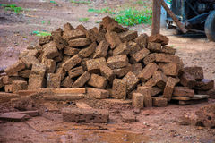 Red brick material for building brick wall to the industry Stock Photo