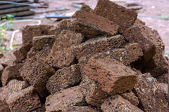 Red brick material for building brick wall to the industry Royalty Free Stock Photos