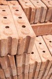 Red brick materials for construction Royalty Free Stock Photography