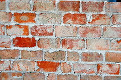 Red brick with mortar close up royalty free stock photo