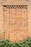 Red brick obstruction in the door Royalty Free Stock Photo