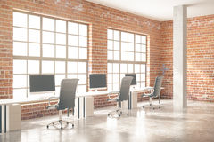Red brick office side Stock Photography