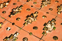 The red brick path Royalty Free Stock Photo