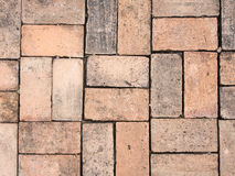 Red brick pattern. For walkway stock photos