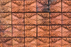 Red brick with patterns Stock Photos