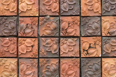 Red brick with patterns Royalty Free Stock Image