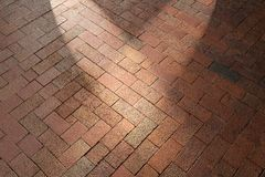 Red brick pavement background Royalty Free Stock Images
