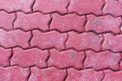 Red brick pavement floor texture Royalty Free Stock Photography