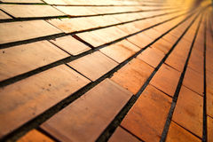 Red brick pavement Royalty Free Stock Photography