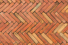 Red brick pavement Royalty Free Stock Photos