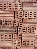 Red brick pavers stacked Royalty Free Stock Images