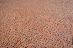 Red brick paving stones Royalty Free Stock Images