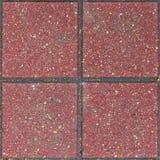 Red brick paving stones on a sidewalk Stock Photos