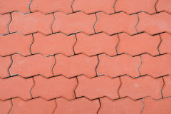 Red brick paving stones on a sidewalk Royalty Free Stock Photography
