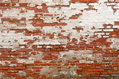 Red brick with plaster Stock Image