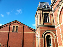 Red Brick Pumping Station Royalty Free Stock Image