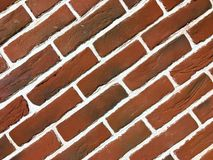 Red brick red rough wall texture background royalty free stock photography