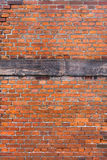 Red brick reinforced wall Stock Image