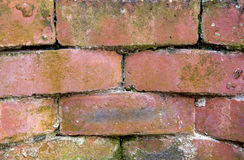 Red Brick Retaining Wall Royalty Free Stock Photography