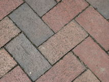 Red Brick Road for Background royalty free stock photos
