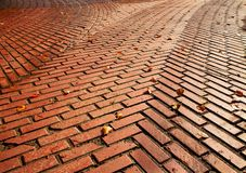Red brick road split Royalty Free Stock Images