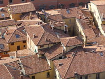 Red brick roofs Stock Photography