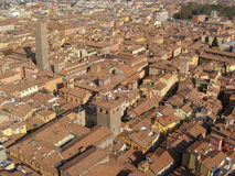 Red brick roofs in Bologna Stock Photo