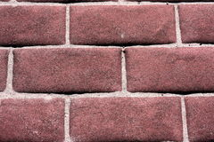 Red brick with Sand Royalty Free Stock Images