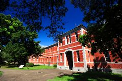 Red brick school building at Kumamoto university, Kumamoto, Japan Stock Images