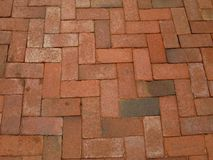 Red-brick-sidewalk Stock Photo