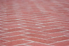 Red brick sidewalk Royalty Free Stock Images