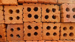 Red brick stack Royalty Free Stock Image
