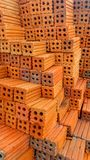 Red brick stack Royalty Free Stock Photos