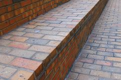 Red Brick Staircase Royalty Free Stock Photography