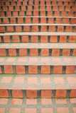 Red brick staircase Stock Photos