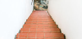 Red brick staircase Royalty Free Stock Images