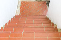 Red brick staircase Stock Images