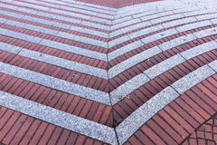 Red brick staircases as background Royalty Free Stock Photography