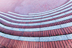 Red brick staircases as background Stock Photos