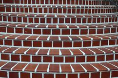 Red brick stairs with with concrete grout Royalty Free Stock Image