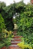 Steps into an English Garden Stock Image