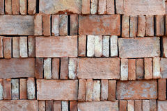 Red brick stock for construction Royalty Free Stock Photography