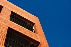 Red Brick Structure and Deep Blue Sky Royalty Free Stock Images