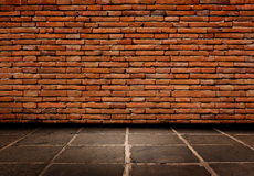 Free Red Brick Structure Of The Walls And Cement Flooring. Stock Photography - 36547422