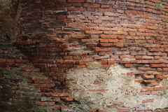 The red brick. Red brick in temple of Thailand Royalty Free Stock Photo