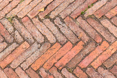 Red brick texture background. Red old brick on floor texture background Royalty Free Stock Photography