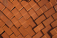 Red brick. Texture of red bricks stacked Stock Image