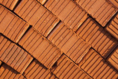 Red brick. Texture of red bricks stacked Royalty Free Stock Photography
