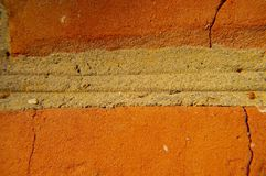 Red brick texture. Macro photo royalty free stock images
