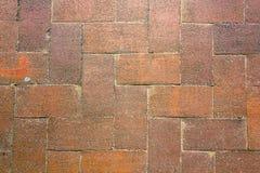 Red brick texture. Red, orange, and pink brick path Stock Photo